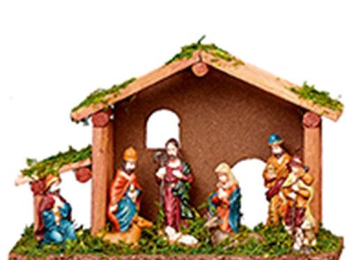25cm Wooden Nativity