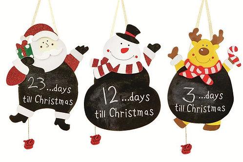 30cm Black Board Days to Christmas