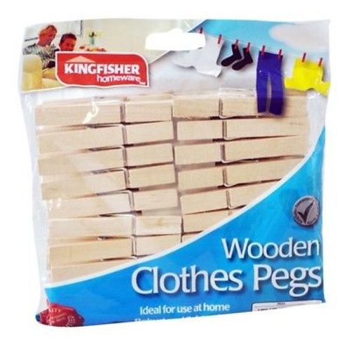 Wooden Clothes Pegs x30