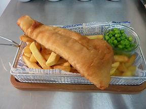 Waterside cafe at Bow Garden Centre fish and chips Fridays