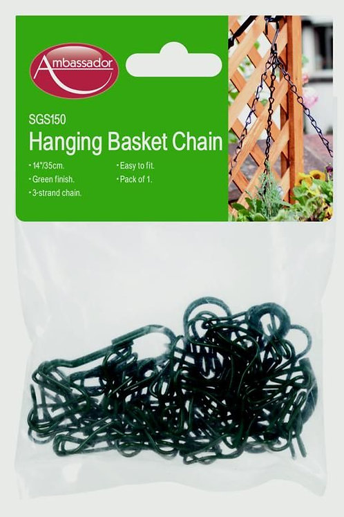 """Ambassador Hanging Basket Chain 18.7"""" Black"""