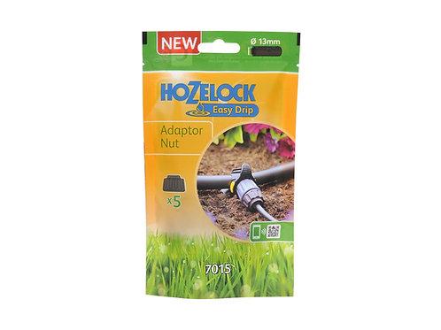 Hozelock Irrigation Adaptor Nut 5 Pack