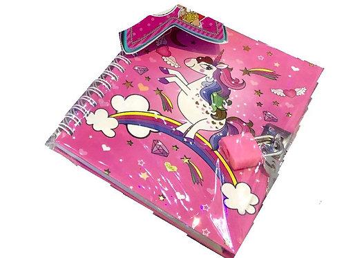 Notebook & Padlock Set Unicorn