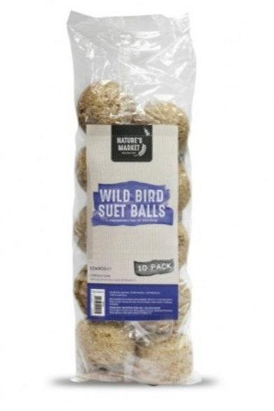 Wild Bird Suet Fat Balls 10 Pack