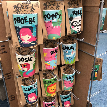 Children's personalised bamboo cups
