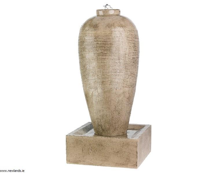 Slim Urn Jar Beige