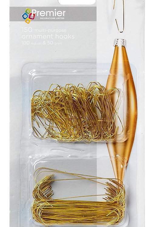 Premier 150 Ornament Hooks Gold