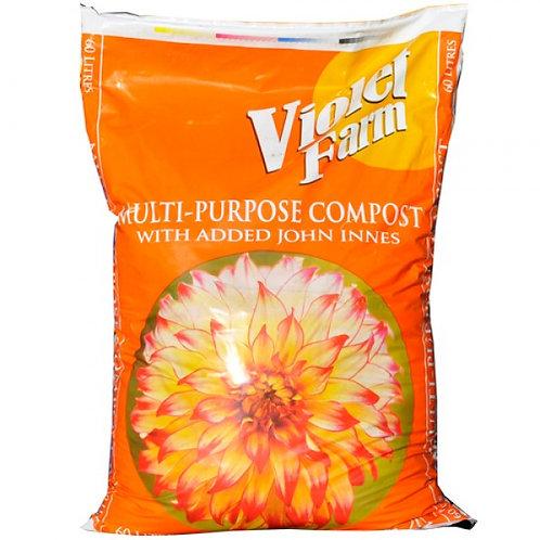 Violet Farm Multi-Purpose with added John Innes 60L