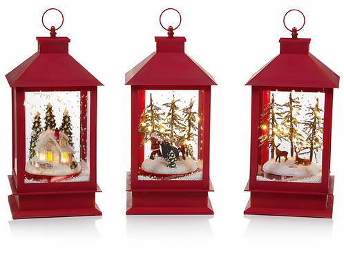 Premier 32cm Antique Red Snow Blowing Lantern