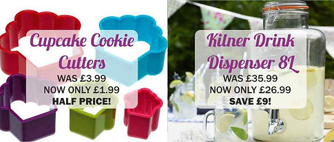 COOKIE CUTTERS AND KILNER DRINK DISPENSE