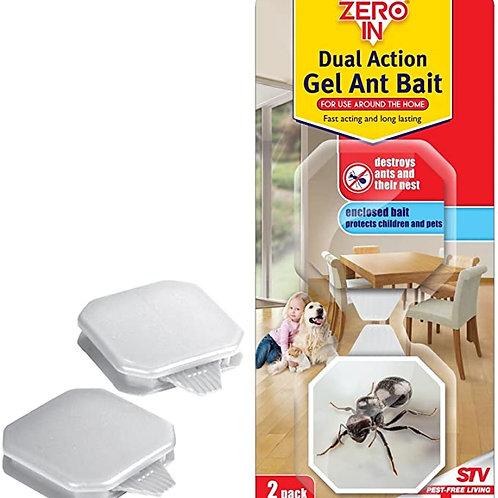 Zero In Dual Action Gel Ant Bait 2pk