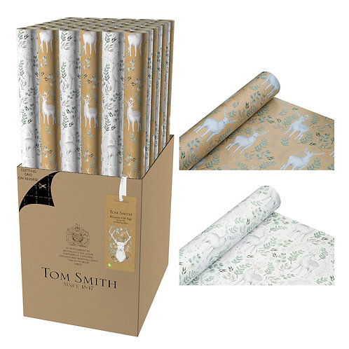 Tom Smith Wrapping Paper 3m Woodland Wonder