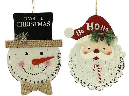 29cm Christmas Countdown Heads