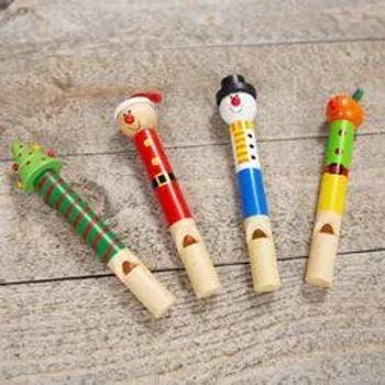 Wooden Christmas Slide Whistle
