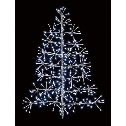 90cm Starburst Tree Silver White LEDs