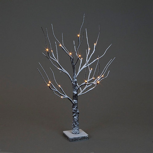 60cm Brown Snowy Twig Tree With 24 Warm White LEDs