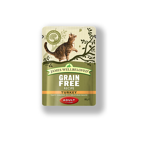 James Wellbeloved Cat Pouch Grain Free Adult Turkey