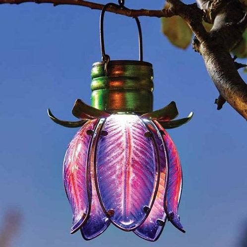 Solar Tulip Pendant - Purple