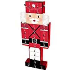 Premier 47cm Wooden Nutcracker Advent Calendar