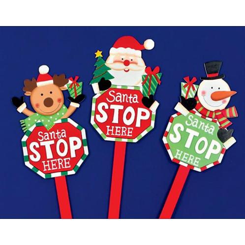 Santa Stop Here Sign 68cm