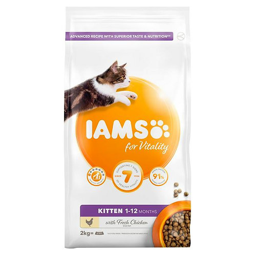 IAMS For Vitality Kitten Cat Food With Fresh Chicken 2kg