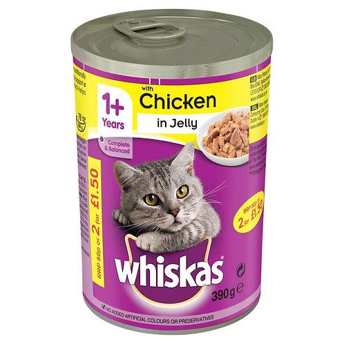 Whiskas 1+ Chicken In Jelly 390g
