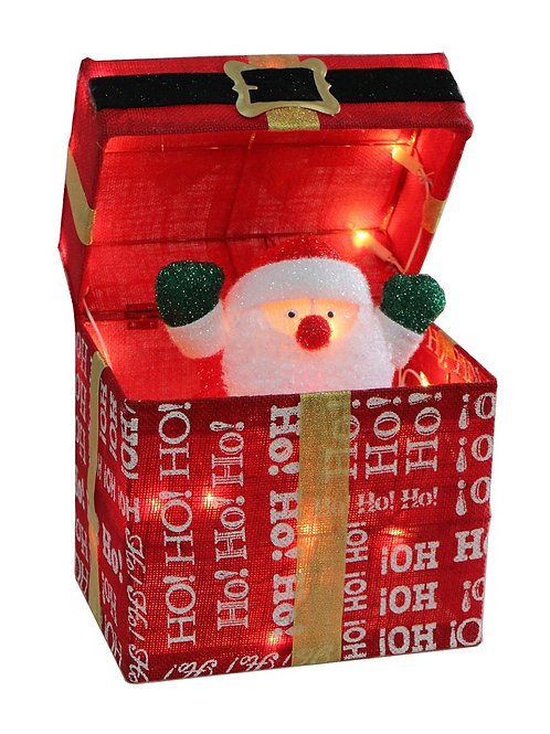 30cm Animated Santa And Belt Parcel