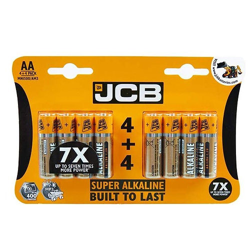 JCB Batteries AA 4+4 Pack