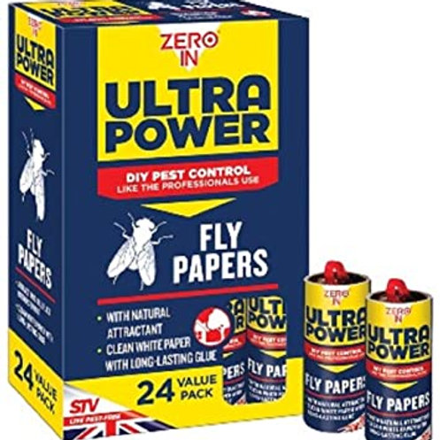 Zero In Fly Papers 24 Pack