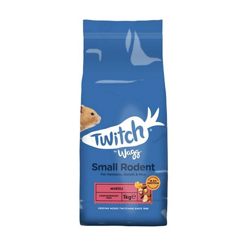 Wagg Twitch Small Rodent 1kg Hamster, Gerbil, Mice