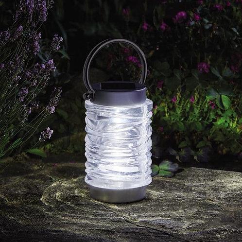 Solar Stainless Steel Wave Lantern