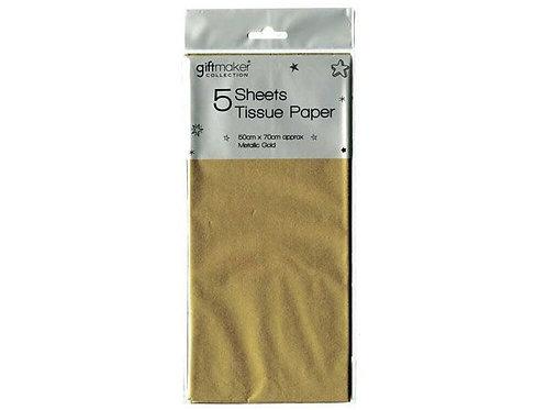 5 Sheet Tissue Paper Metallic
