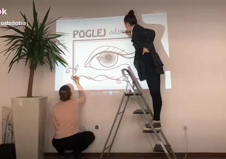 Naša vselitev v nove poslovne prostore se je začela zelo kreativno.