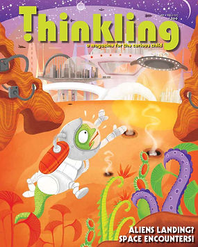 magazine cover, THINKLING magazine, layout design, Children's magazine