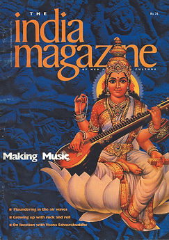 India Magazine cover, on indian popular culture and people