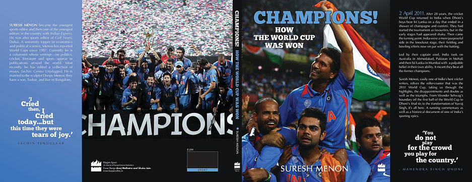 World Cup Cricket book, author suresh menon