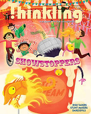 Thinkling Magazine cover, children, kids reads