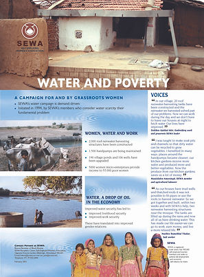 SEWA, water and poverty in rural india, rain water harvesting