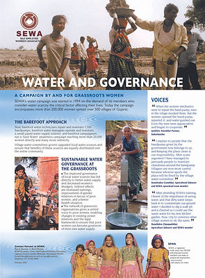 SEWA, water management, water governance