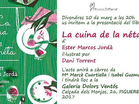 """Presentació del llibre. """"La Cuina de la néta"""" d'Ester Marcos Jordà"""