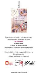 """Presentació del Llibre """"Un any i mig"""" de Sílvia Soler"""