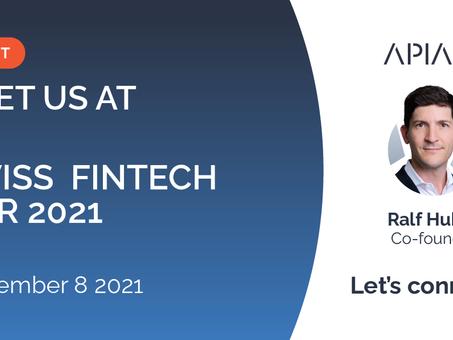 Meet APIAX at Swiss Fintech Fair 2021