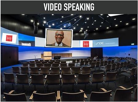 Video Speaking   for remote/international speakers