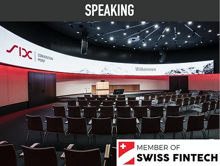 Speaking Slot - Swiss Fintech members