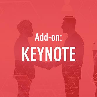 Add-on: Keynote / Speaking