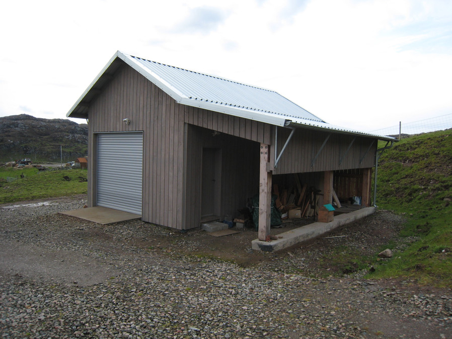 Insulated garage.