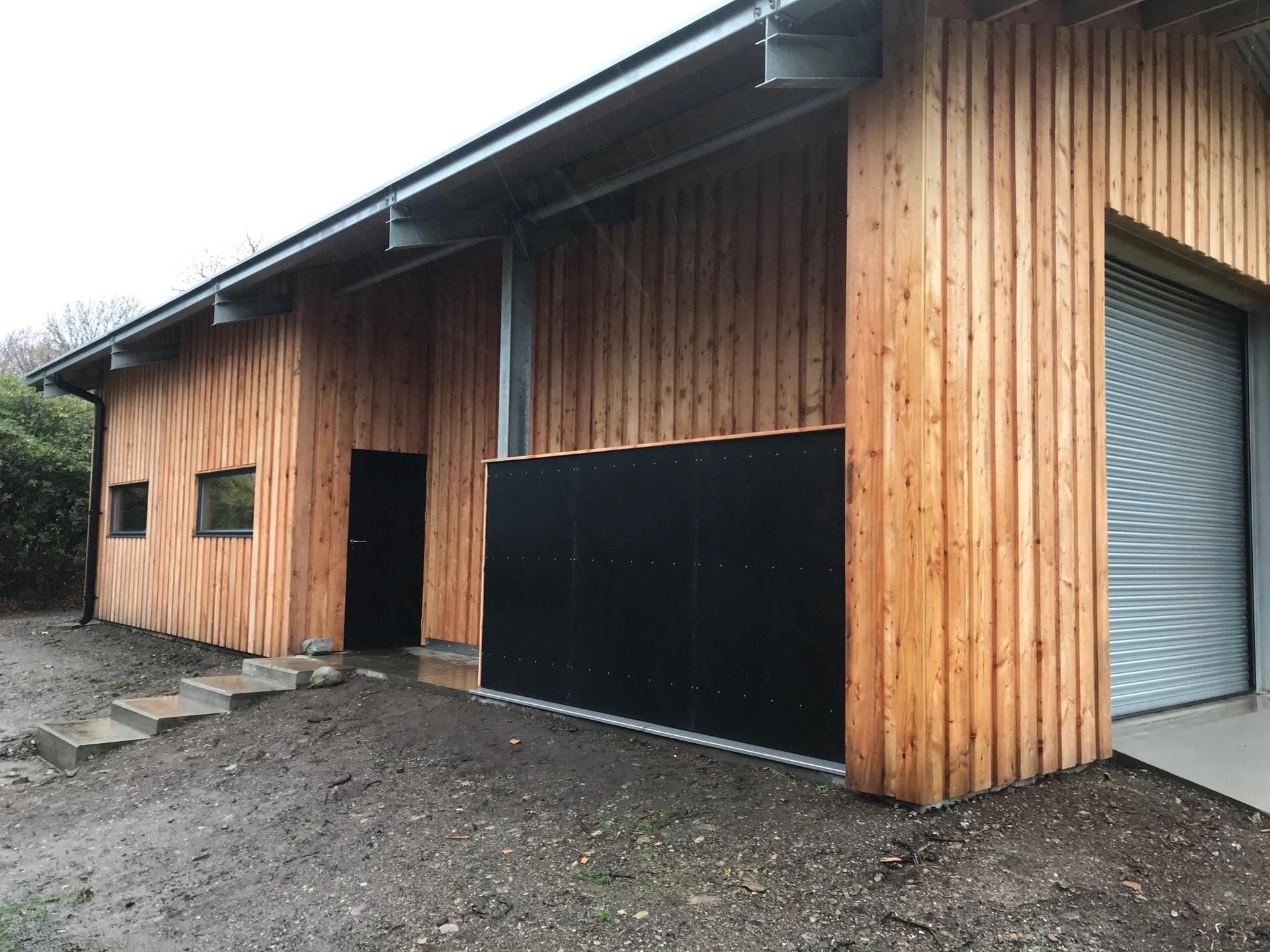 Timber clad workshop