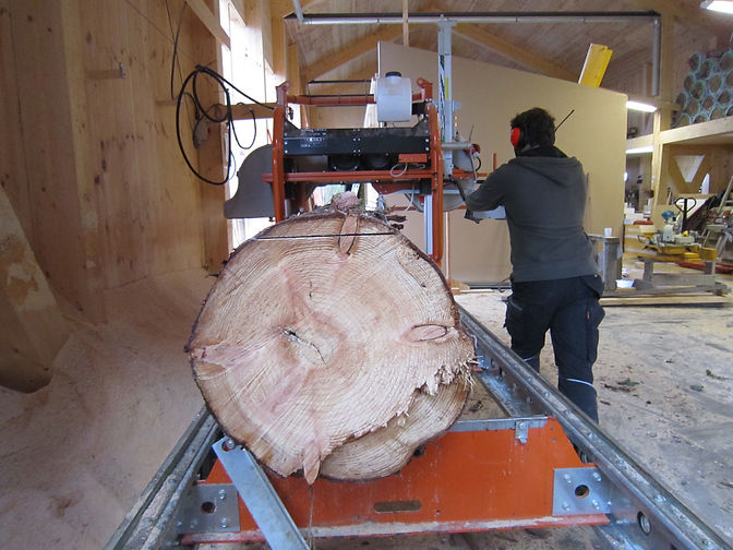 north woods workshop sawmill cutting homegrown timber