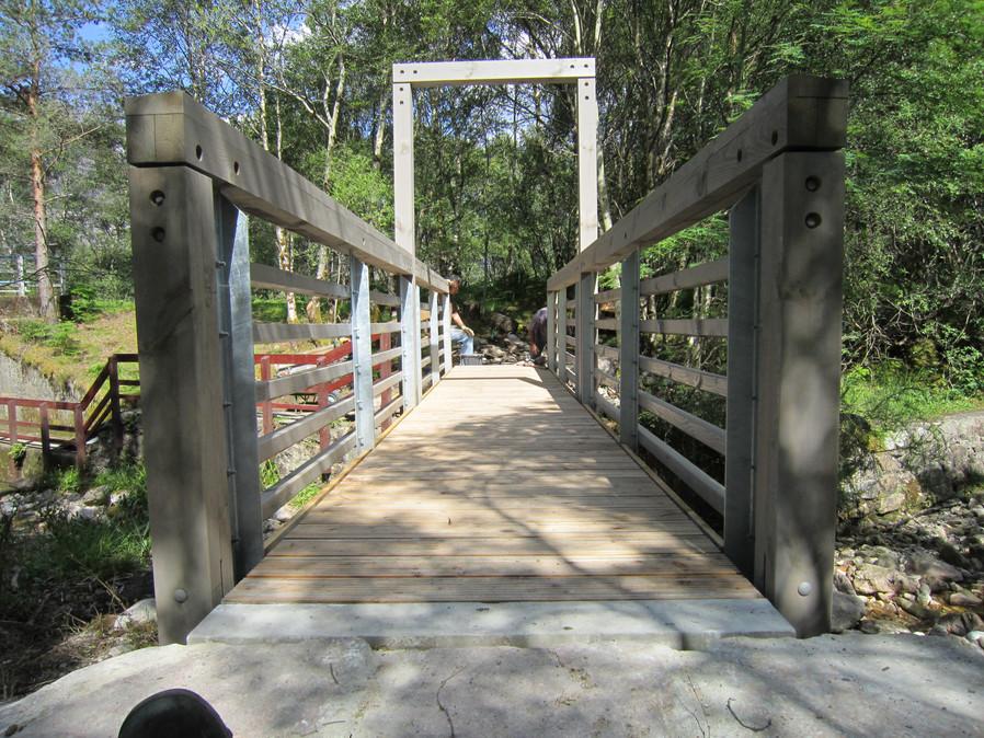 Timber bridge.