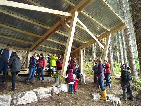 outdoor children's nursery built in Scottish grown spruce
